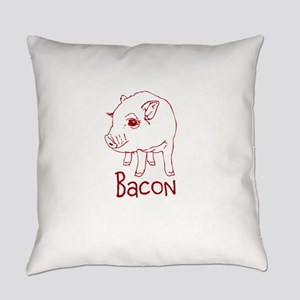 Bacon Pig Everyday Pillow