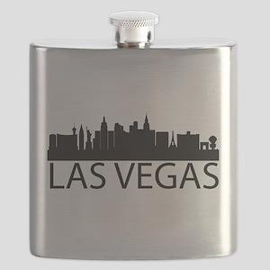 Las Vegas Silhouette Flask
