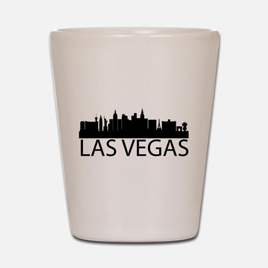 Las Vegas Silhouette Shot Glass