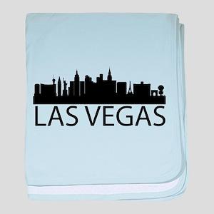 Las Vegas Silhouette baby blanket