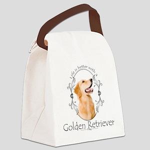 A Golden Life Canvas Lunch Bag