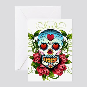 SugarSkull1 Greeting Cards