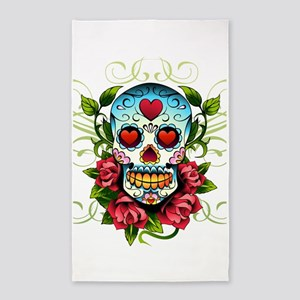 SugarSkull1 3'x5' Area Rug