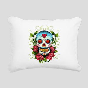 SugarSkull1 Rectangular Canvas Pillow