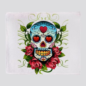 SugarSkull1 Throw Blanket