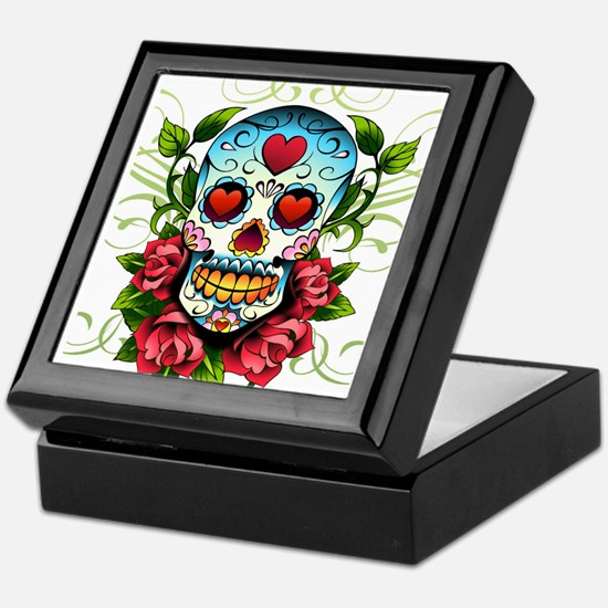 SugarSkull1 Keepsake Box