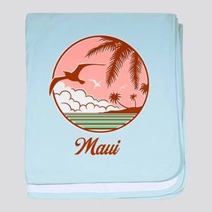 Maui Sunset Bird baby blanket