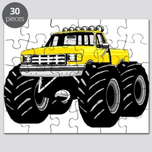 Yellow MONSTER Truck Puzzle