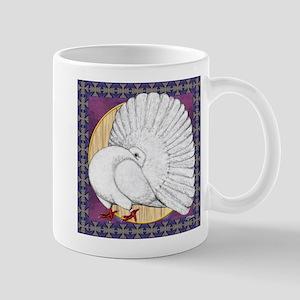 Fantail Pigeon Square Mugs