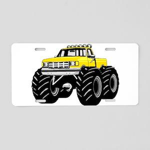 Yellow MONSTER Truck Aluminum License Plate