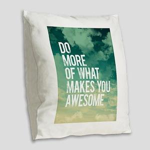 Do more Awesome Burlap Throw Pillow