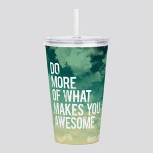 Do more Awesome Acrylic Double-wall Tumbler