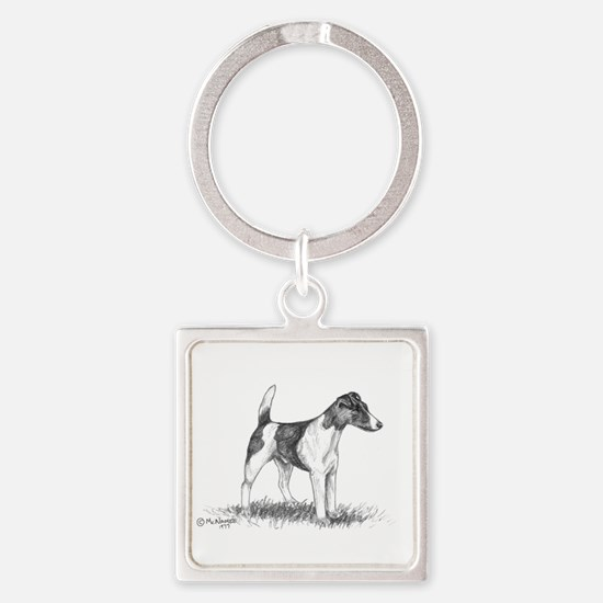 Smooth Fox Terrier Square Keychain