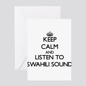 Love swahili stationery cafepress keep calm and listen to swahili sound greeting car m4hsunfo