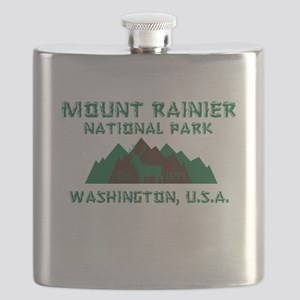 Mt. Rainier National Park Flask