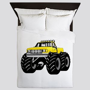 Yellow MONSTER Truck Queen Duvet