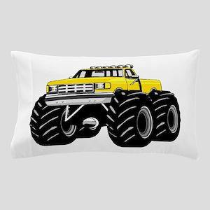 Yellow MONSTER Truck Pillow Case