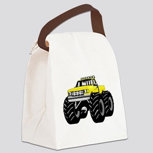 Yellow MONSTER Truck Canvas Lunch Bag