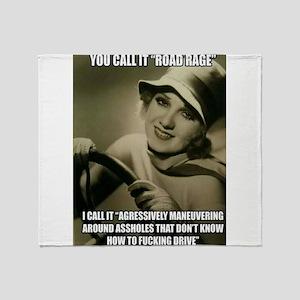 Aggressive Maneuver Throw Blanket