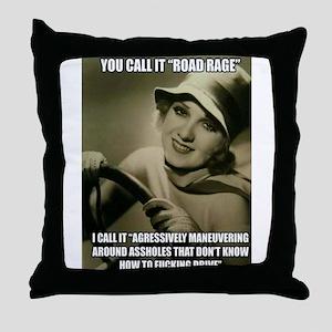 Aggressive Maneuver Throw Pillow