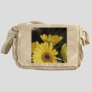 Yellow Chrysanthemum Flowers Messenger Bag