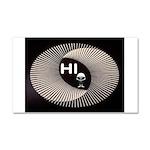 ALIEN HELLO Car Magnet 20 x 12