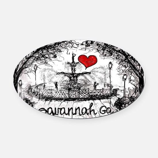 I love savannah Ga Oval Car Magnet
