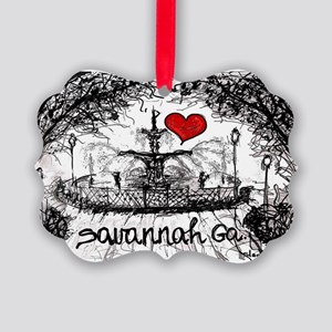 I love savannah Ga Picture Ornament