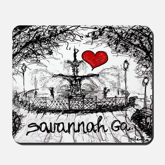 I love savannah Ga Mousepad