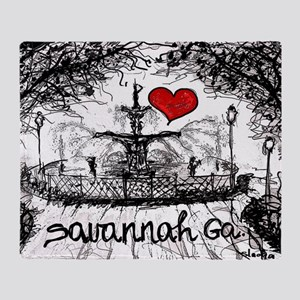 I love savannah Ga Throw Blanket