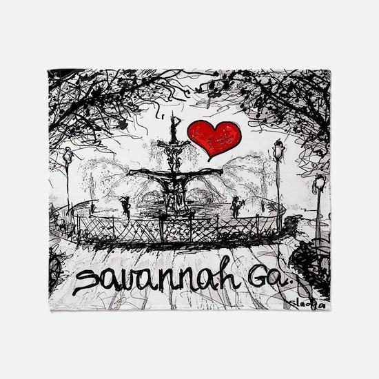 I love savannah Ga Throw Blanket
