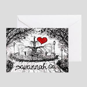 I love savannah Ga Greeting Card