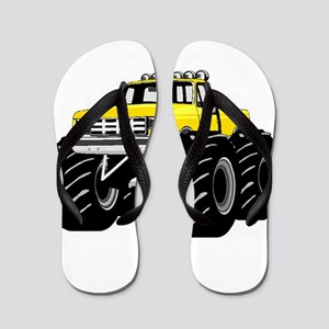 Yellow MONSTER Truck Flip Flops