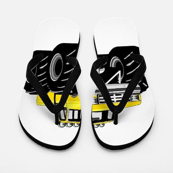 Yellow MONSTER Truck Flip Flops