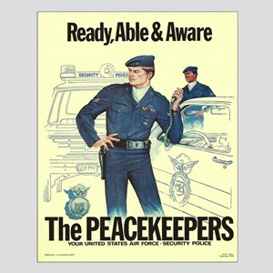 Air Force Peacekeeper Posters Small Poster