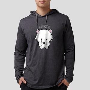 American Eskimo Dog Eskie Mens Hooded Shirt