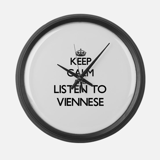 Cute Viennese Large Wall Clock