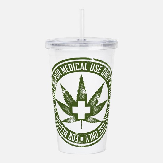 MMJ use only Acrylic Double-wall Tumbler