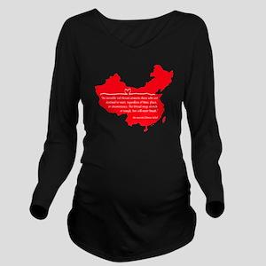 Red Thread Long Sleeve Maternity T-Shirt