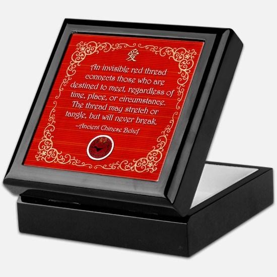 Red Thread Keepsake Box