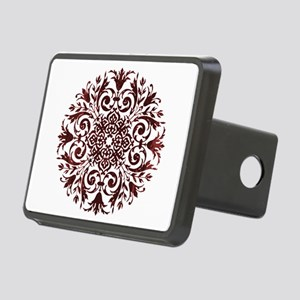 Burgundy Lace Mandala Hitch Cover
