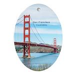 San Francisco Oval Ornament