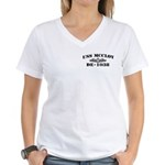 USS McCLOY Women's V-Neck T-Shirt