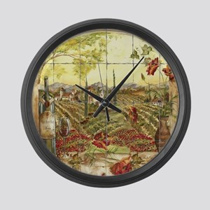 Tuscany Landscape Large Wall Clock
