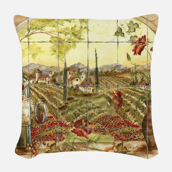 Tuscany Landscape Woven Throw Pillow