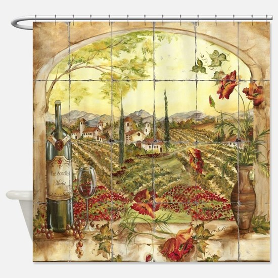 Tuscany Landscape Shower Curtain