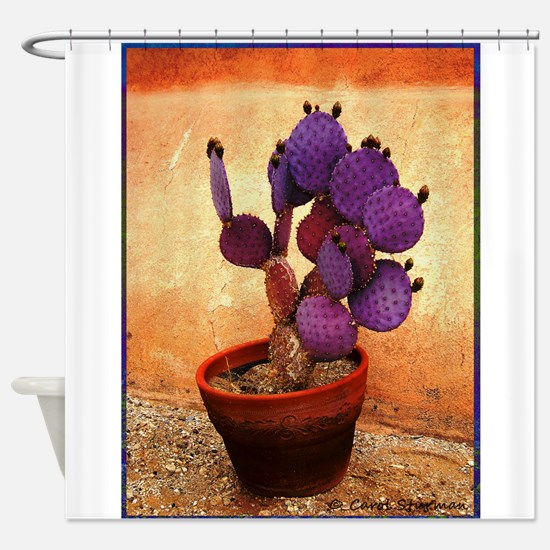 Purple Prickly Pear Shower Curtain
