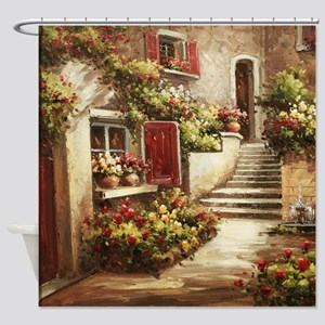 Tuscan Courtyard Shower Curtain