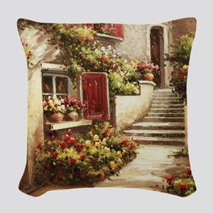 Tuscan Courtyard Woven Throw Pillow