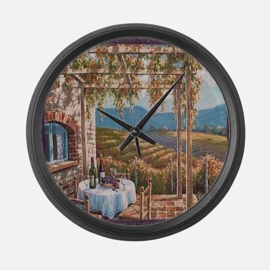 Tuscan Vineyard Large Wall Clock